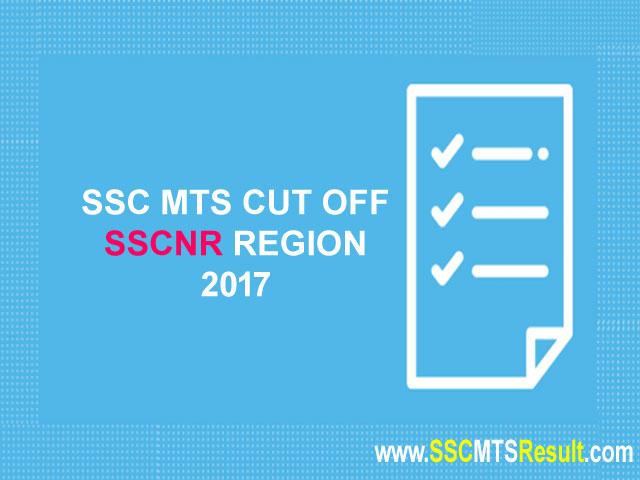 SSCNR MTS Cutoff Northern Region 2017 Rajasthan, Delhi, Uttarakhand