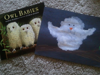Owl Babies- art projects related to childrens literature- elementary students read childrens books, then create crafts based off of these books