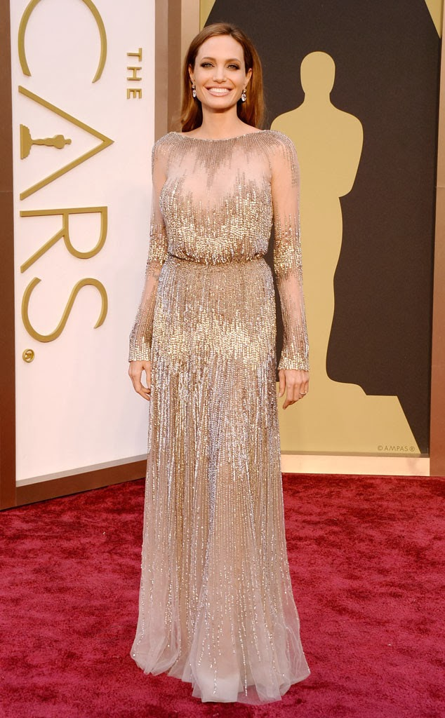 Angelina Jolie in Ellie Saab at the Academy Awards 2014