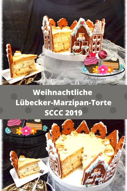 Lübecker Marzipantorte - Rezept und Video von Madeleines Schlemmerparadies | SCCC 2019: Türchen Nr. 13 | Gewinnspiel