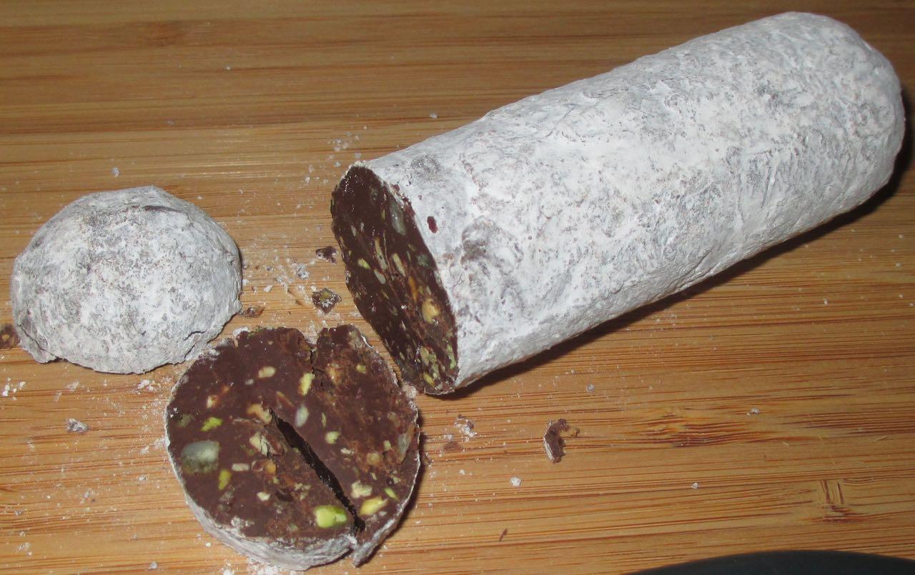 FOODSTUFF FINDS: Chocolate Fruit and Nut Salami (Marks & Spencer ...