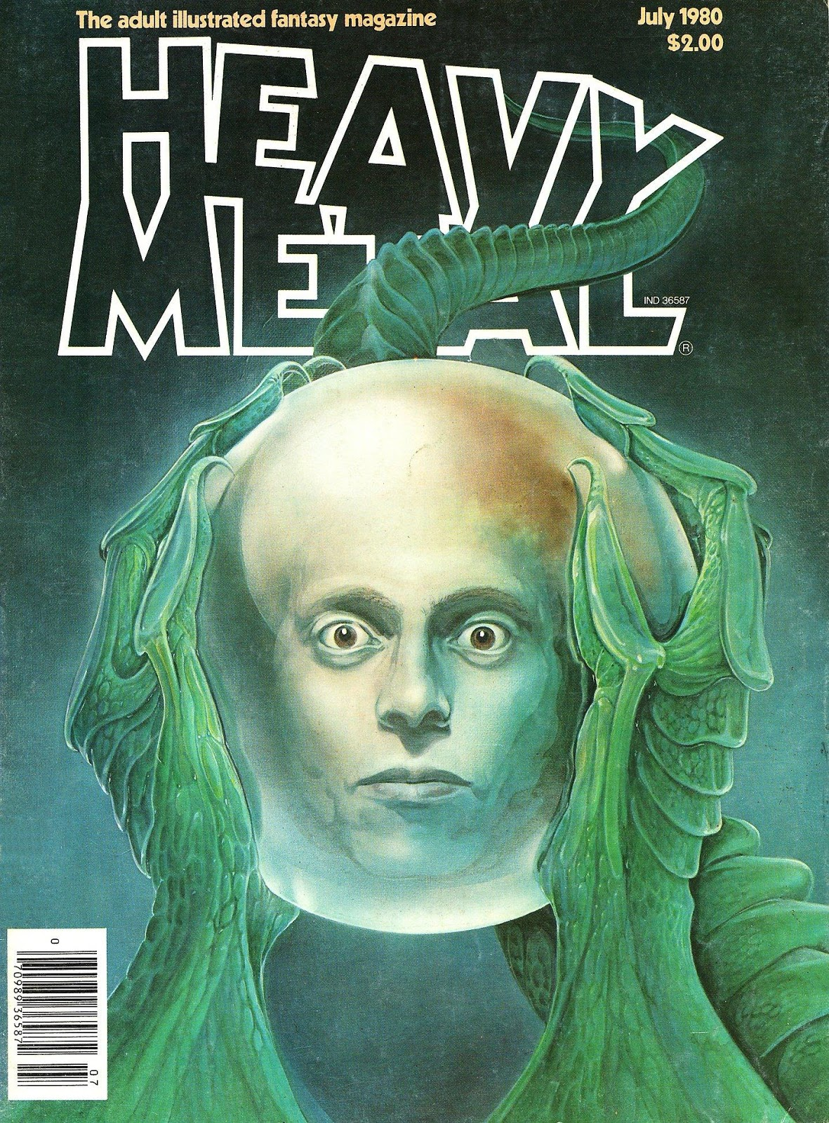 Images: A Fantastic Collection Of Stunning Sci-Fi And Fantasy Based Heavy Metal Comic Book Covers From The Early 1980's