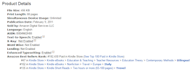 Best seller on Amazon. Italian for Tourists by Jo Linsdell #book