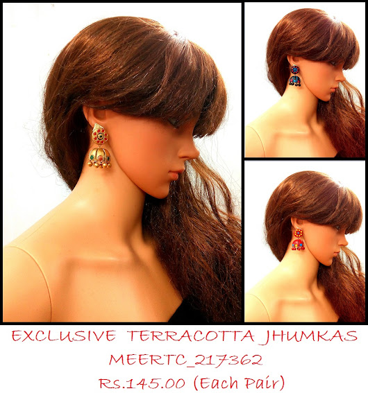 Terracotta Jhumkas sets could be worn on any outfit