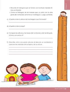 Apoyo Primaria Desafíos Matemáticos 5to. Grado Bloque II Lección 31 El romboide
