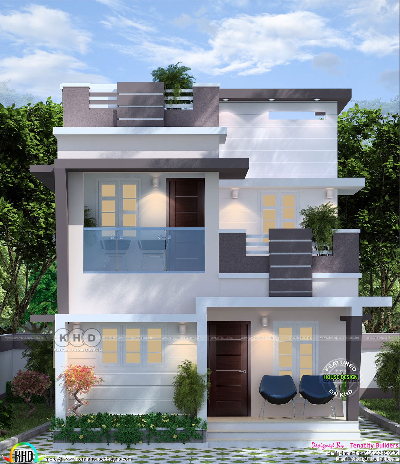 Simple Modern Double Storied Home 1220 Sq-ft