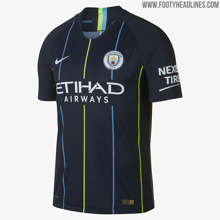 new arrival 4de7c bea1b Manchester City 18-19 Away Kit Released - Footy Headlines
