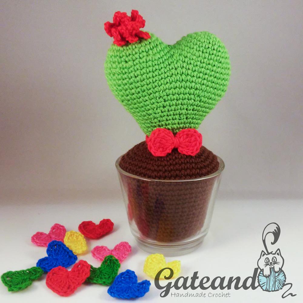 Patron Cactus Corazon Amigurumi