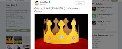 Thêm một thông tin mới về siêu phẩm Samsung Galaxy Note 9 - 228874