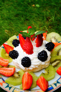 ricetta cestino meringa frutta