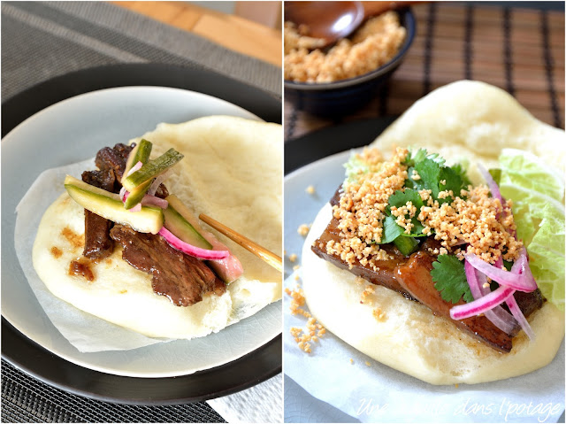 Gua bao, sandwich taïwanais au porc (street food)