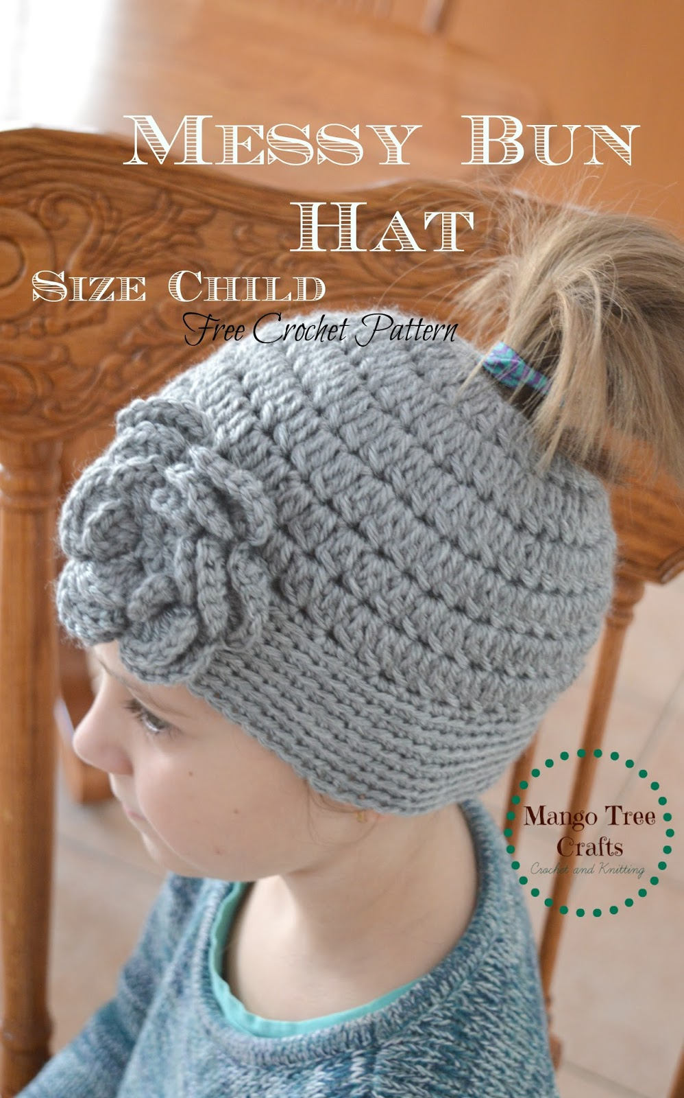 Mango tree crafts messy bun hat free crochet pattern in 3 sizes messy bun hat free crochet pattern in 3 sizes bankloansurffo Images