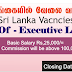 Vacancies In Sri Lanka  Post Of  - Executive Leasing