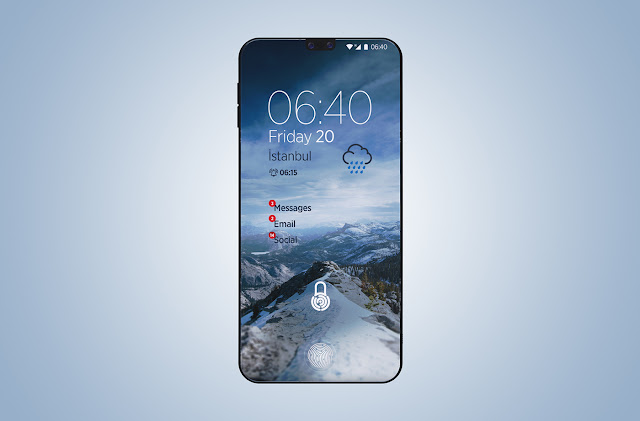 Sharp Curve Smartphone | 2018