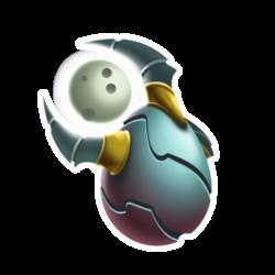 Aparência de ovo Dragão Luz do Lua