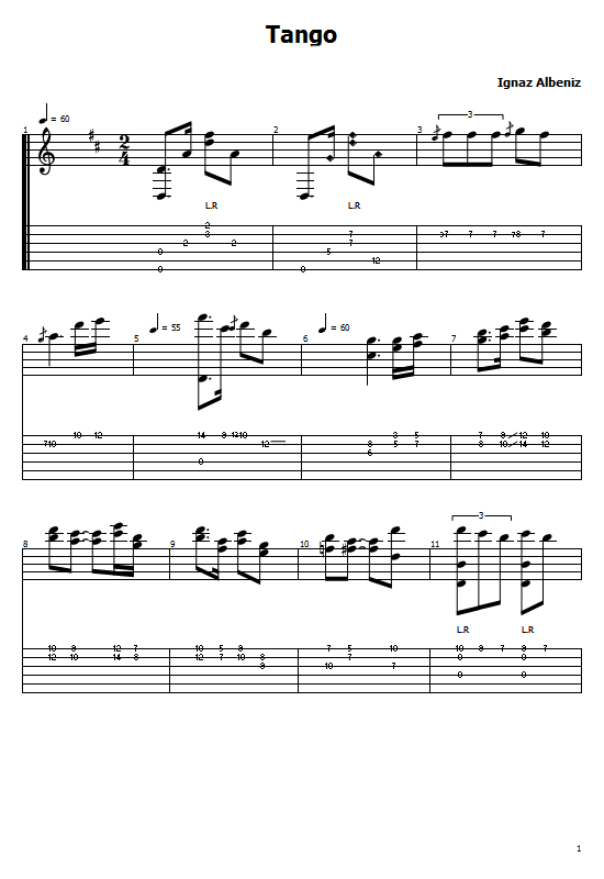 Tango Tabs Isaac Albéniz - How To Play Tango Albéniz Songs On Guitar Tabs & Sheet Online