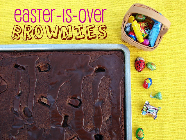 Easter-Is-Over Brownies #recipe from @Katrinaskitchen