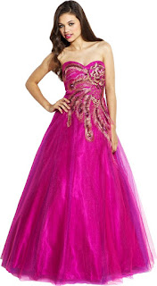 fuchsia exciting strapless long peacock quinceanera dresses for ball gowns