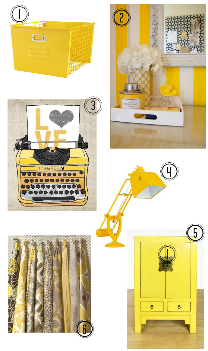 Yellow Office Accessories