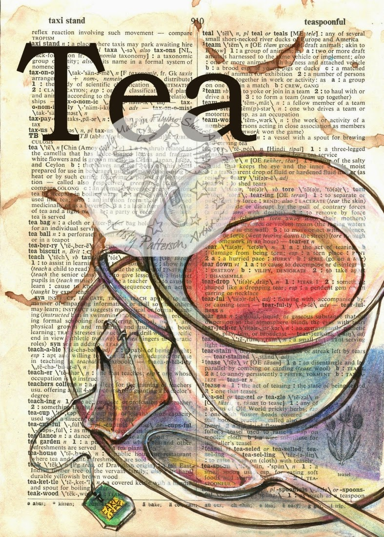 13-Tea-Kristy-Patterson-Flying-Shoes-Art-Studio-Dictionary-Drawings-www-designstack-co