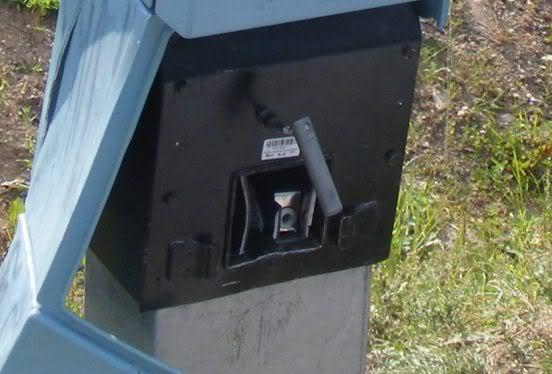 Sulaužytas mokėjimo aparatas