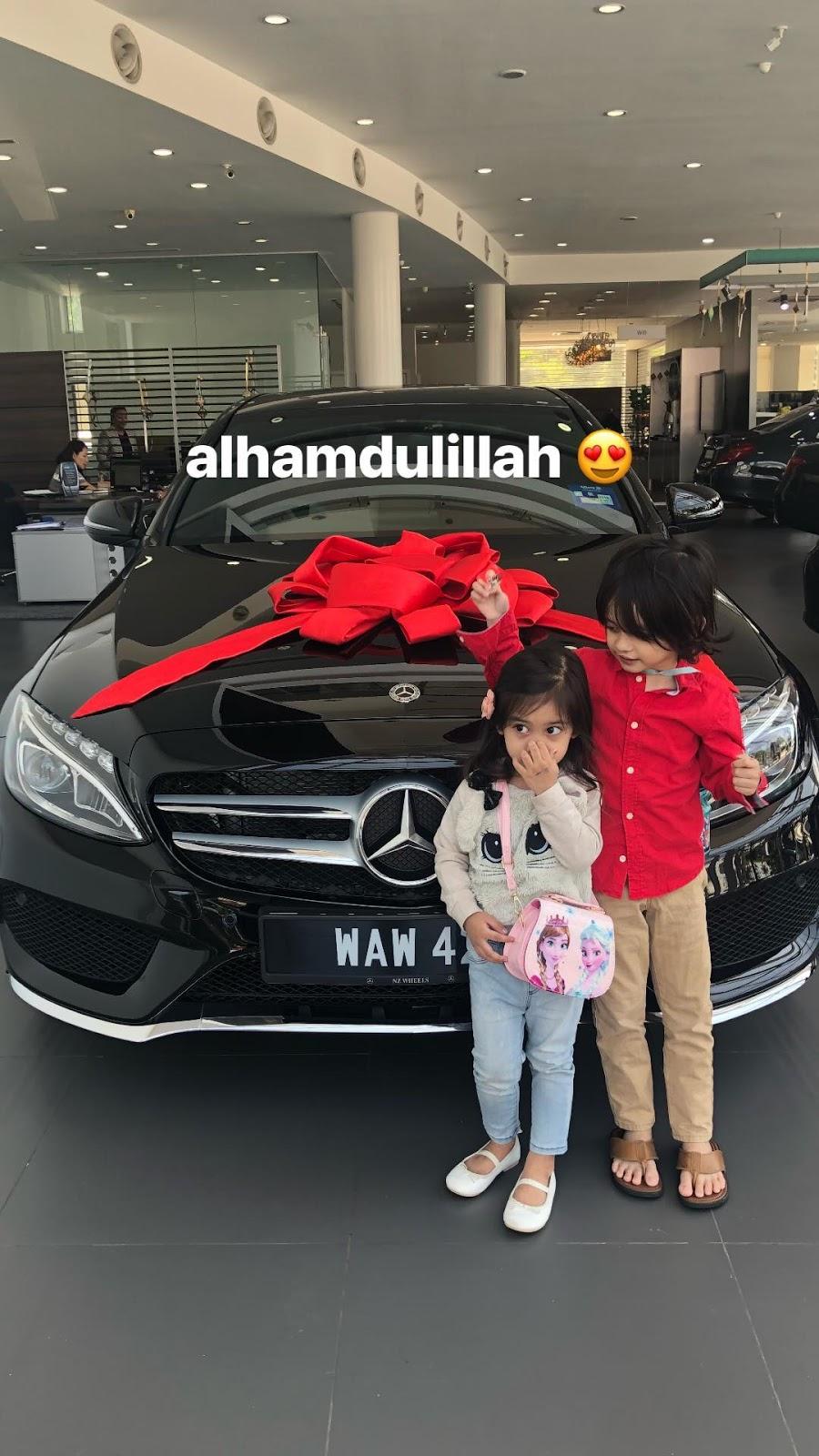 Ganjaran jaga suami & anak-anak, Aeril Zafrel hadiakan kereta mewah buat Wawa Zainal