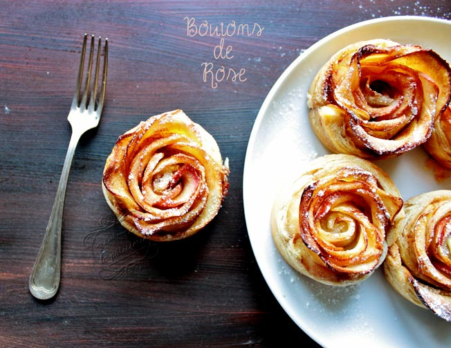 Pomme Feuilletee En Bouton De Rose Apple Rose Il Etait Une Fois