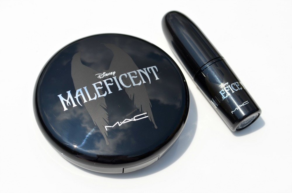 MAC Maleficent highlighter and lipstick without their boxes