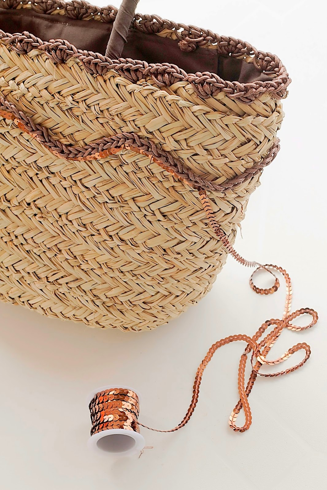 Diy capazo de paja y crochet / Diy straw bag and crochet