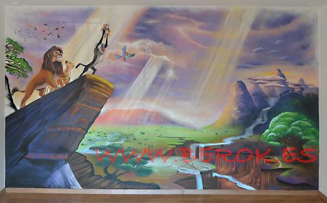 Mural infantil Rey León