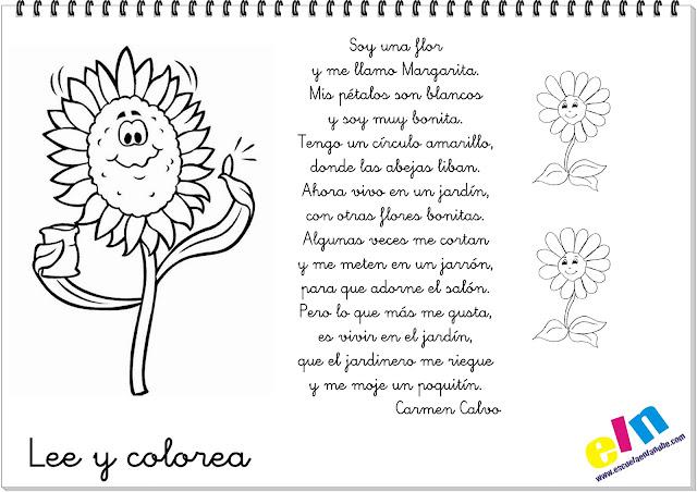 Poesía infantil Soy una flor y me llamo Margarita