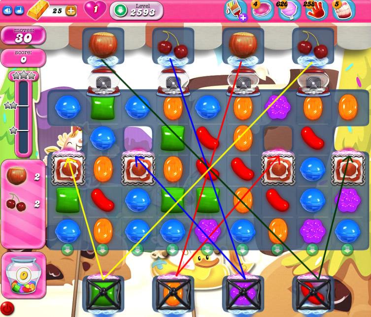 Candy Crush Saga level 2593