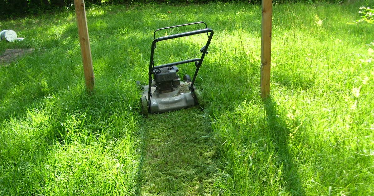Getting Off The Grid - Mowing My Way Out