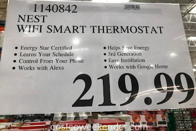 Deal for the Nest Learning Smart Thermostat at Costco