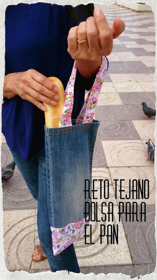 bolsa para el pan con vaqueros reciclados