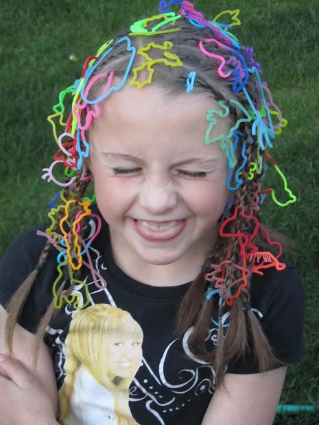 baker family crazy hair day