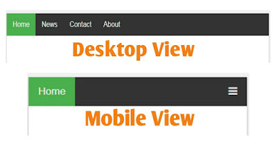 how to create a top menu bar responsive and attractive in blogger site in Hindi