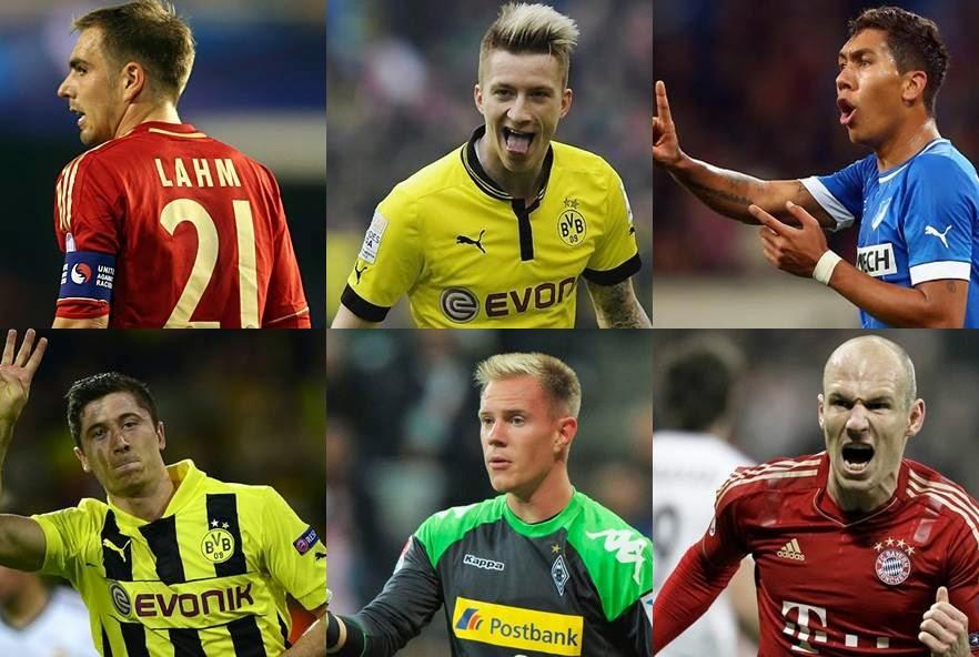 Daftar 11 Pemain Terbaik Liga Jerman 2013-2014