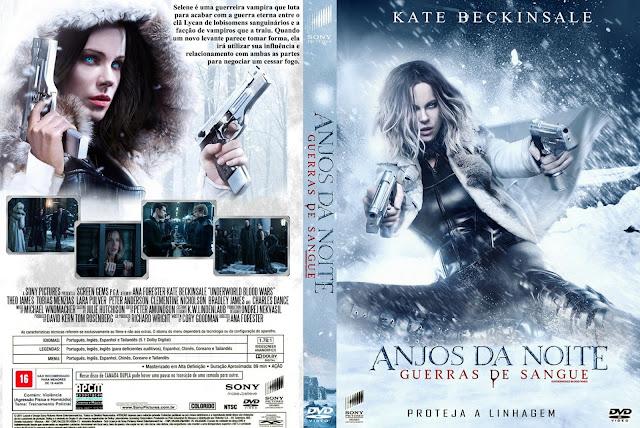 Capa DVD Anjos Da Noite Guerras De Sangue