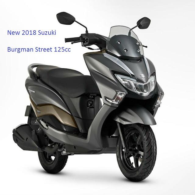 New 2018 Suzuki Burgman Street 125cc Scooter