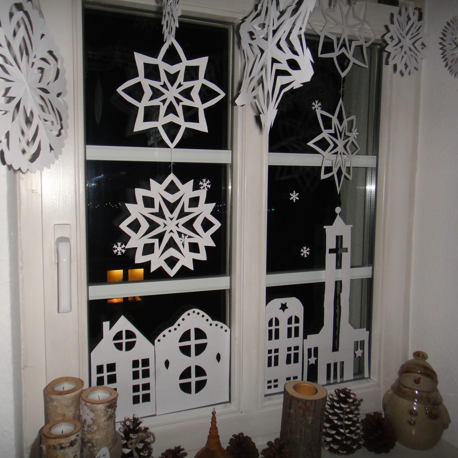 ines felix kreatives zum nachmachen weihnachts fensterdeko aus papier