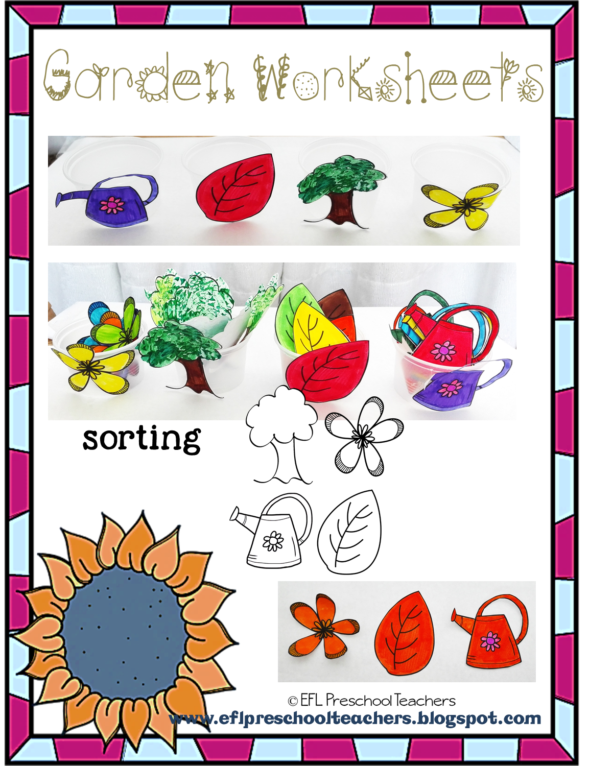 Esl Efl Preschool Teachers Garden Theme Resources For The Preschool Ell