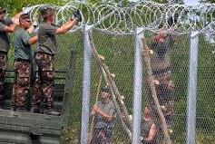 anti-migrant border fencing