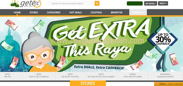 cashback, duit poket, getex malaysia