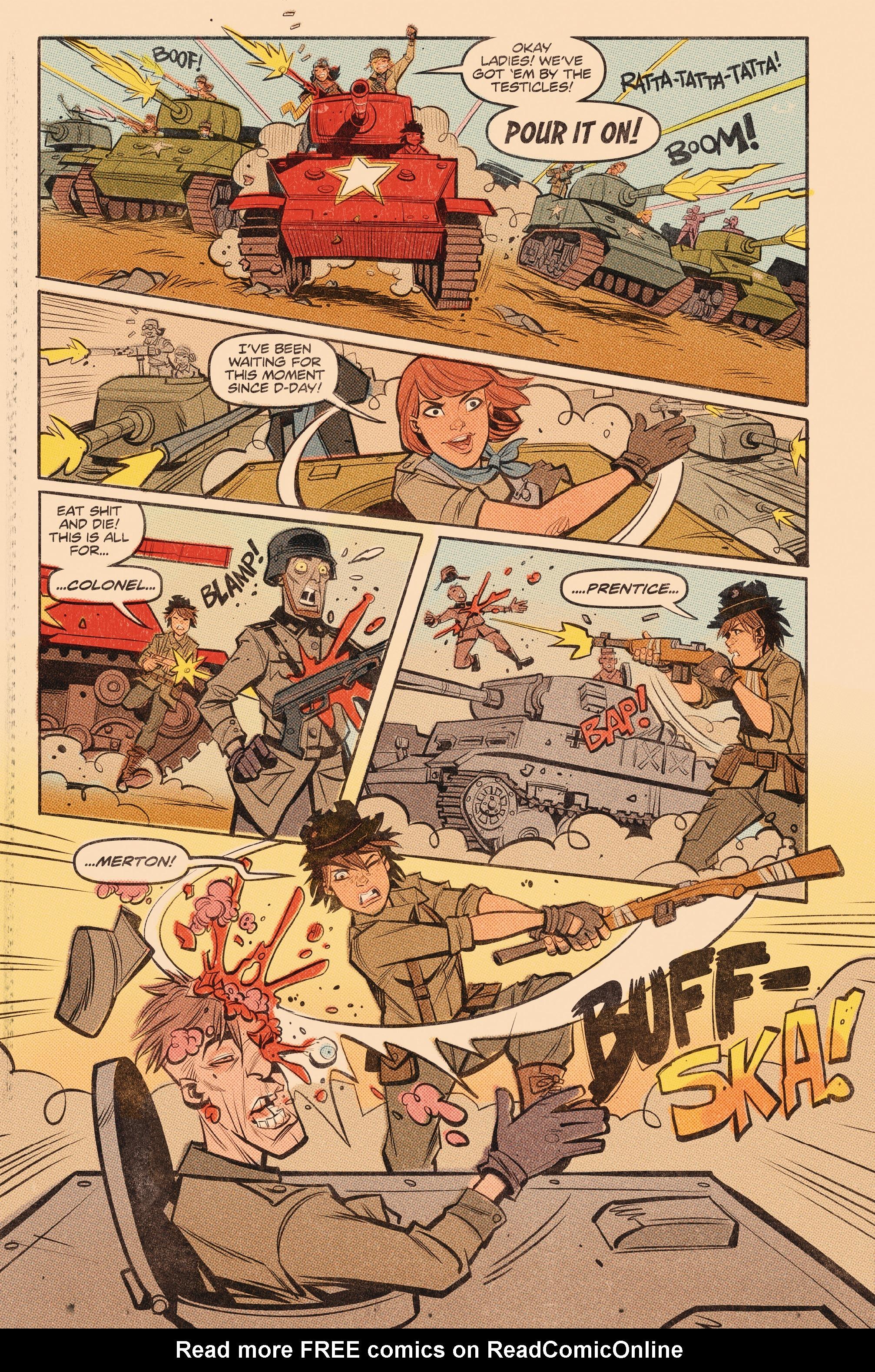 Read online Tank Girl: World War Tank Girl comic -  Issue #3 - 11