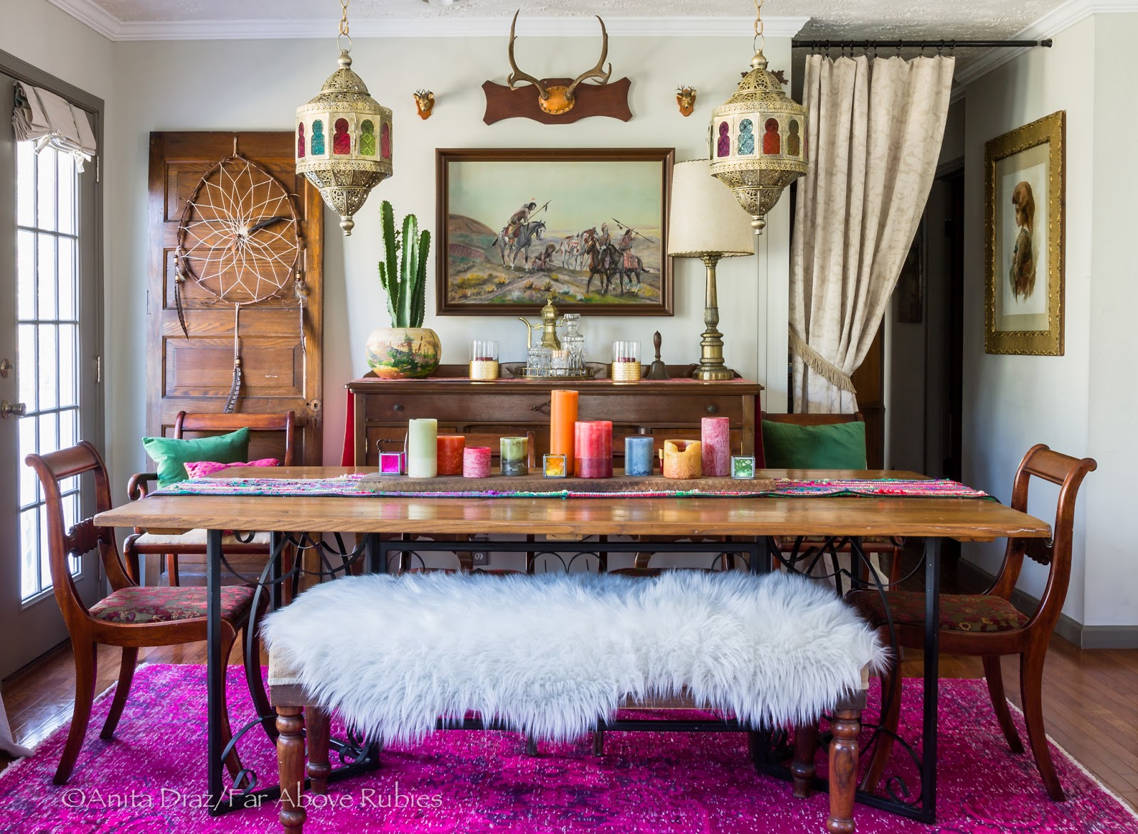 Far above rubies decorating for Bohemian dining room decorating ideas