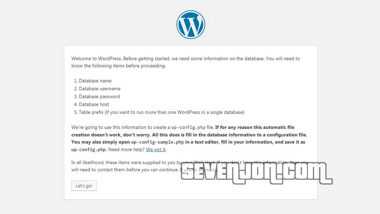 Install Wordpres Di Localhost Step 10