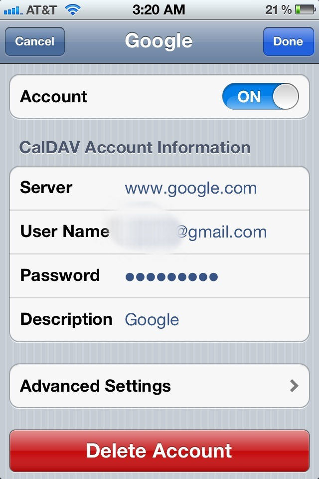 How to: Setup and sync multiple Google Calendars on iPhone