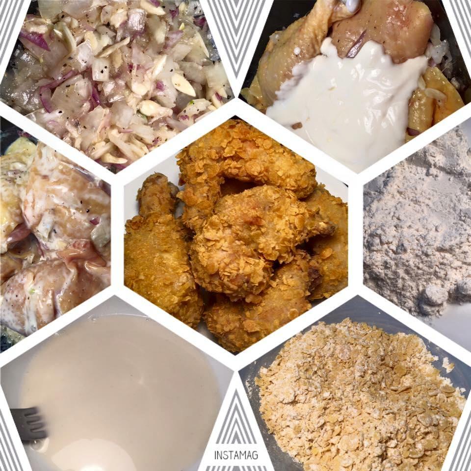 Hướng dẫn làm món cánh gà chiên ngũ cốc