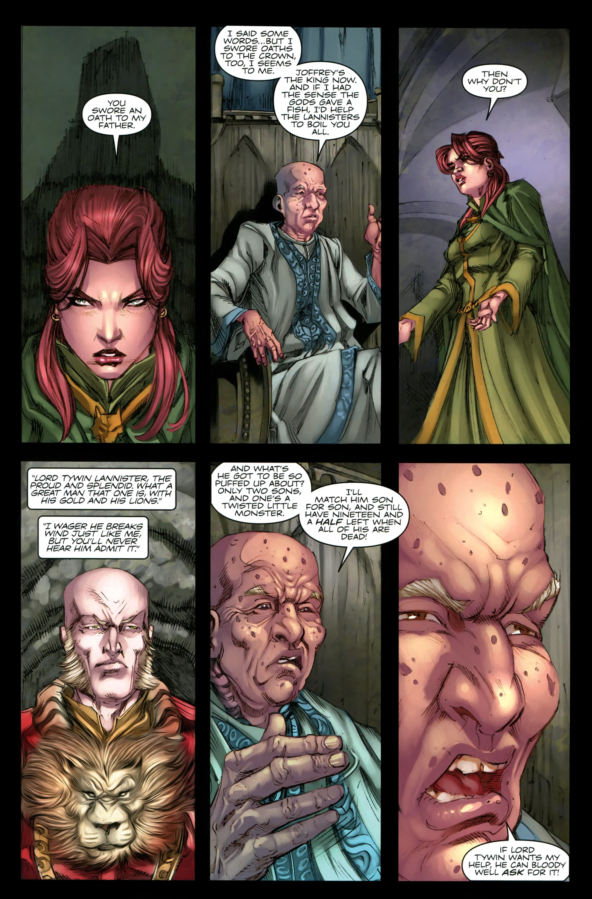 Read online A Game Of Thrones comic -  Issue #19 - 24